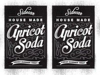 Sidecar Apricot Soda Labels 2-Up