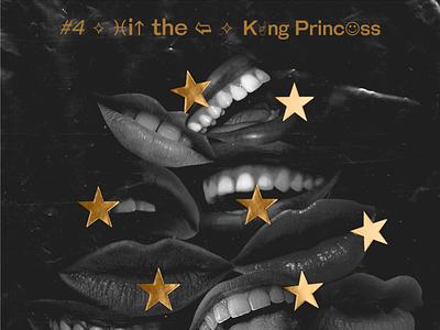 10x19 King Princess Album Art typography collage stars mouth album cover record musician album art album