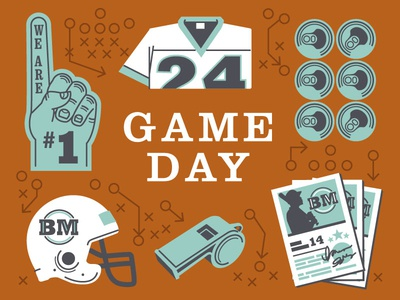 Game Day Illustrations for Cook Book