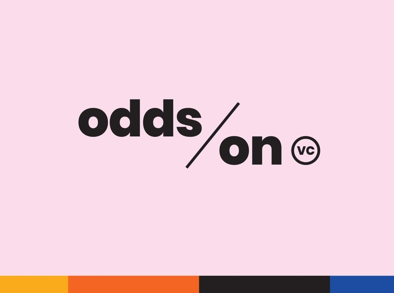 Final mark and primary color palette for Odds On VC  hoodzpah start up brand identity logo visual identity website social media collateral messaging color typogaphy logo system naming