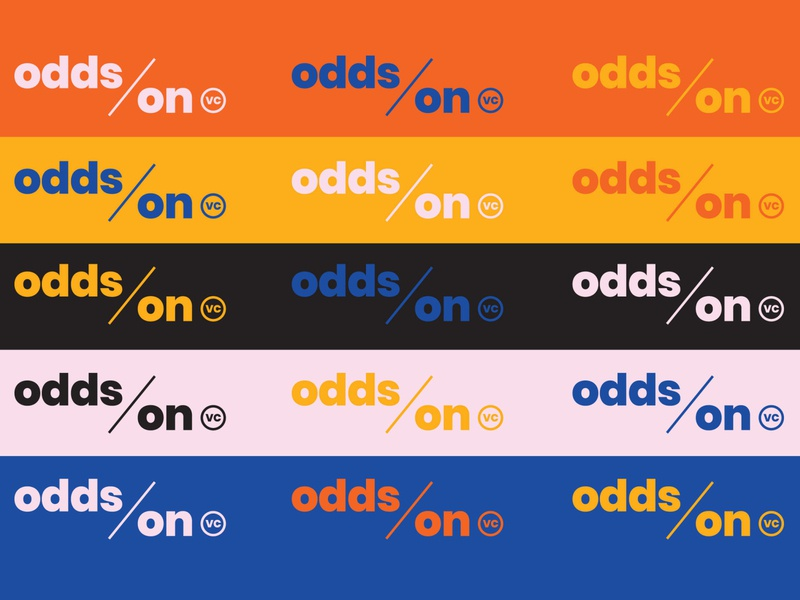 Odds On VC Color Palette social media collateral messaging logo system naming typography color website brand identity branding logo hoodzpah
