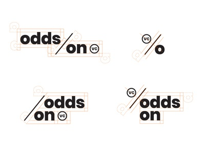 Odds On VC logo set and logo grid social media collateral hoodzpah naming messaging color website brand identity typogaphy branding logo logo set logo system