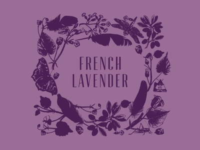 French Lavender Label Design