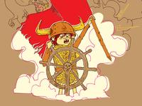 """Kyle And The Kite"" Kids Book Illustration Progress"