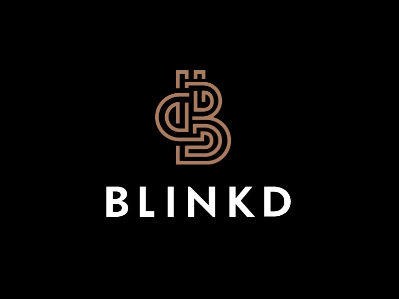 Blinkd Logo Concept logo maze flat modern minimal branding inline symbol icon