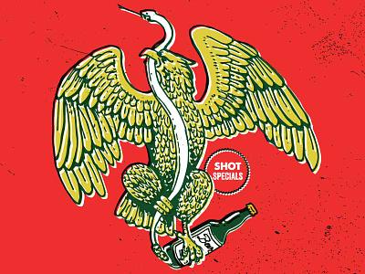 Class Of 47 Cinco de Mayo Eagle snake illustration sharpie ink pen eagle retro vintage mexico cinco de mayo beer