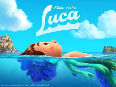 Unchosen Disney and Pixar's Luca Movie Title Treatments pixar disney branding logo design custom type custom lettering movie logo title treatment logo hoodzpah type