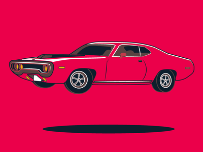 Hover Car car muscle car dodge 70s vintage retro red vector sports car speed