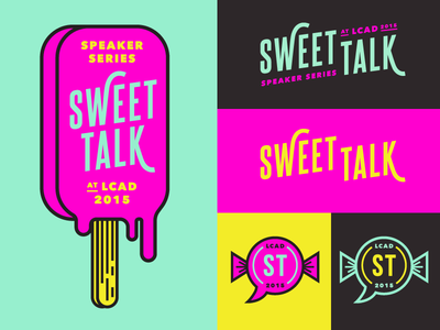 Lcad Speaker Series Logo Concept logo branding pop pop art bright color popsicle candy sweets modern
