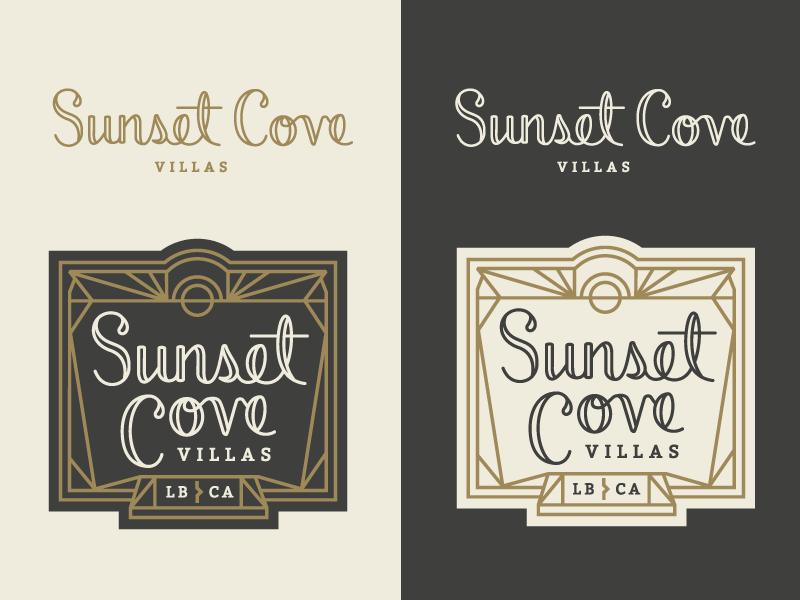 Sunset cove logo dribbble jen hood hoodzpah