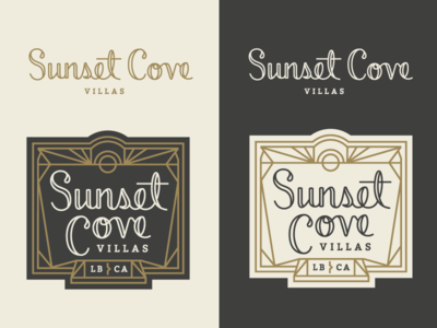 Sunset Cove Logo Concept