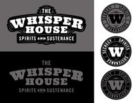 The Whisper House Speakeasy Logo System