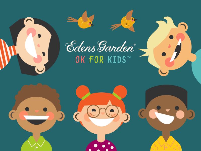 Illustrations for Edens Garden Ok For Kids Essential Oil