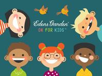 Illustrations for Edens Garden Ok For Kids Essential Oil Brand