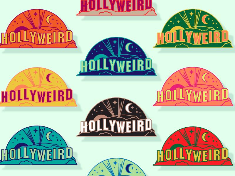 Hollyweird emblem by Jennifer Hood for Hoodzpah on Dribbble