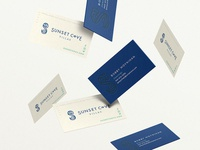 Sunset Cove Villas luxury vacation rentals business card designs