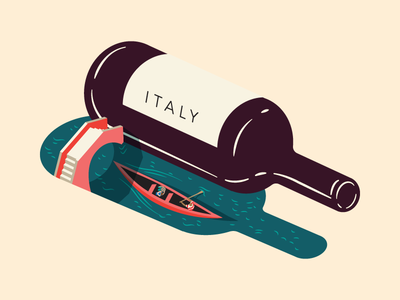 Wine Feature Italy - Illustration for Saute Magazine