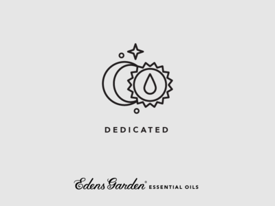Edens Garden Essential Oil Value Icon: Dedicated