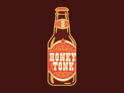 Honkey Tonk Enamel Pin Design for Odds and Sods