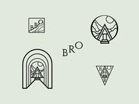 Logo concept exploration for Bro