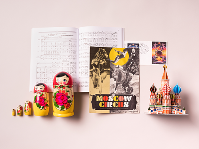City Speakeasy Russian Vignette ussr space race st peters nesting dolls circus moscow russia knolling props creative direction photography