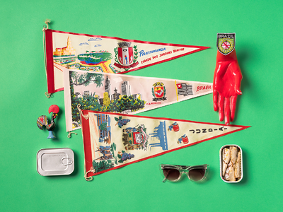 Cit Speakeasy Portuguese Vignette rooster pennant flags sardines portuguese portugal knolling props creative direction photography
