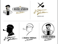 Logo concepts for a novelist