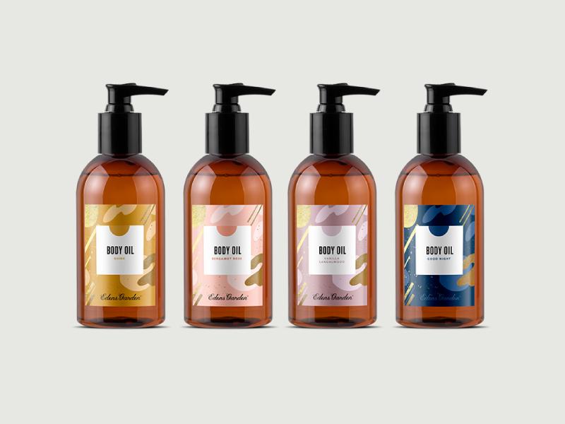 Eg packaging body oils