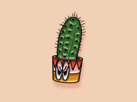 """Pinned"" for Facebook Stickers - Cross Cacti"