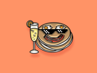 """Pinned"" Facebook Sticker: Brunch"
