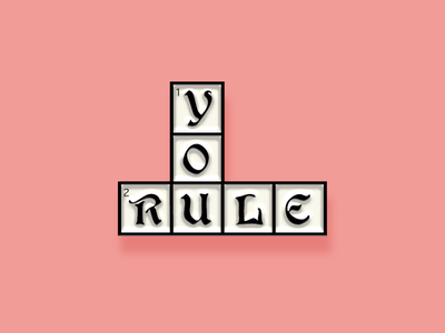 """Pinned"" Facebook Sticker: You Rule blackletter motivation positive crossword enamel pin sticker facebook"
