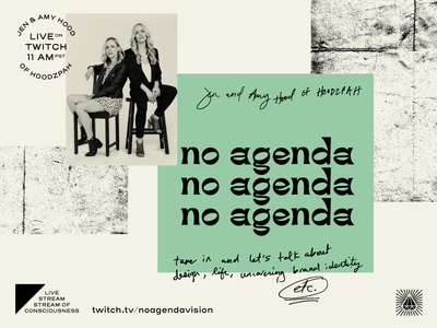 No Agenda Live Stream on Twitch -- Today at 11am PST! lettering custom font live stream podcast creativity twitch