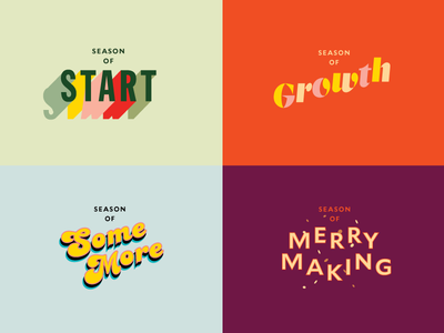 Seasons Of Prometheus holiday merry summer grow start typography type seasons marks