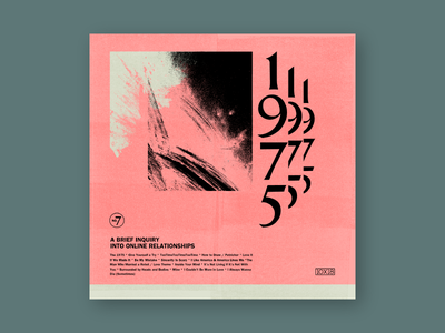 10x18 #7: 1975's A Brief Inquiry into Online Relationships texture music art cover art album cover album art cover 10x18 music