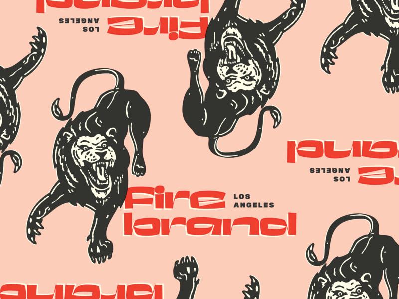 Badge explorations - Lion illustration experimental type retro seal badge animal lion