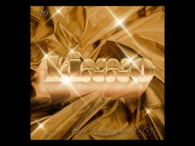 10x19  -  Lizzo - Cuz I Love You 10x19 sparkle gold shiny music lizzo album record album art