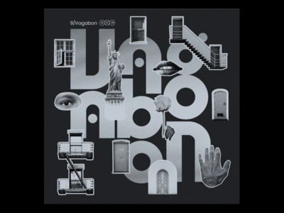 10x19  Vagabon Album Art collage custom type lettering vagabon music album art album