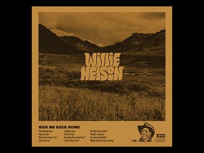 10x19 Willie Nelson illustration lettering cover design record music country music country willie nelson cover art album art album