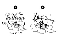 Kathryn Davey Golden Gate Logo Concepts