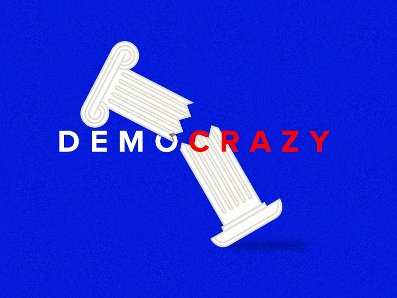 Demo-crazy united states the united states roman columns america politics inauguration trump election democracy washington