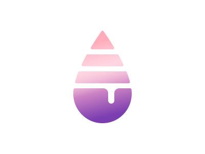 Unicorn Snot Icon glitter ooze goo drop drip gradient logomark mark emblem icon logo unicorn