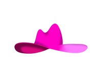yeehaw icon pink hot pink southern texas illustration 3d western cowboy hat cowgirl joanne lady gaga