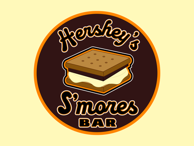Hershey Smores Bar Circle Logo Concept branding orange vector logodesign logo candy grahamcracker marshmallow chocolate bar smores hershey