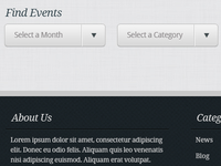 Events theme events filtering