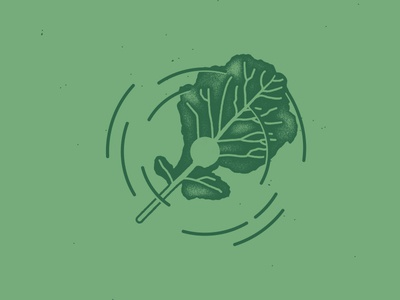 Kale yeah, my dudes stamp illustration logo