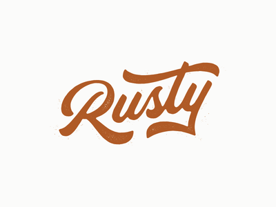 Rusty rust rusty rough texture design lettering