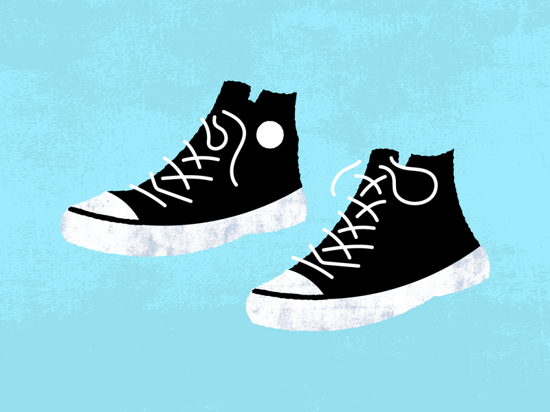 Vintage Sneakers fashion all stars illustration chuck taylors chuck taylor converse vintage retro shoes footwear sneakers