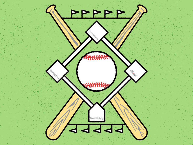 Baseball Theme vector vintage retro work in progress graphic design mlb baseball sports illustration