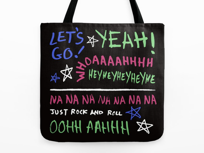 Pop Punk Tote Bag green day bands lyrics new found glory blink 182 warped tour sketchy typography tote bag music pop-punk pop punk punk rock
