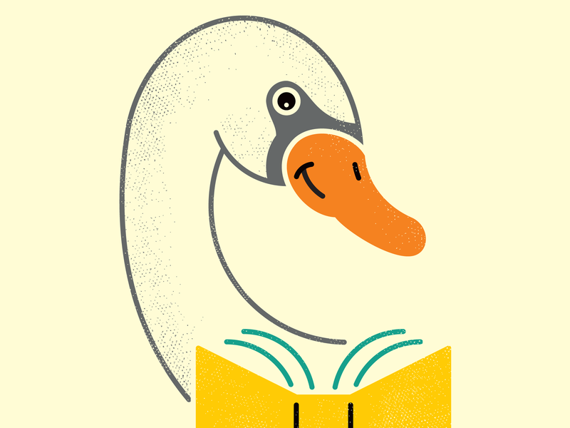 Swan birds bird illustration cute for kids homework learning reading books librarian library book swan